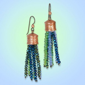 How to Make Nature Flows Tassel Earrings by Kayla Hefling