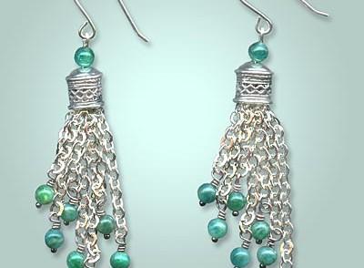 Petra Chain Tassel Earrings by Tiffany White