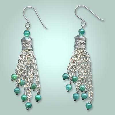 Petra Chain Tassel Earrings by Tiffany White