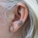 Spider Web Sterling Ear Cuff