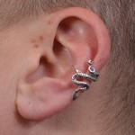Snake Shaped Sterling Ear Cuff