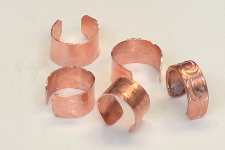 Make your own copper ear cuffs