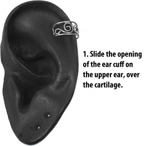 Slide the opening of the ear cuff over the cartilage.