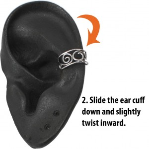 Slide the Ear Cuff Down