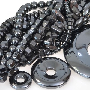 Manmade Hematite Beads and Pendants