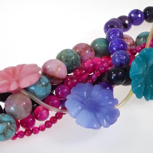 Bright Dyed / Enhanced Agate beads