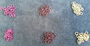 Opened and Closed rings from Weave Got Maille Kit