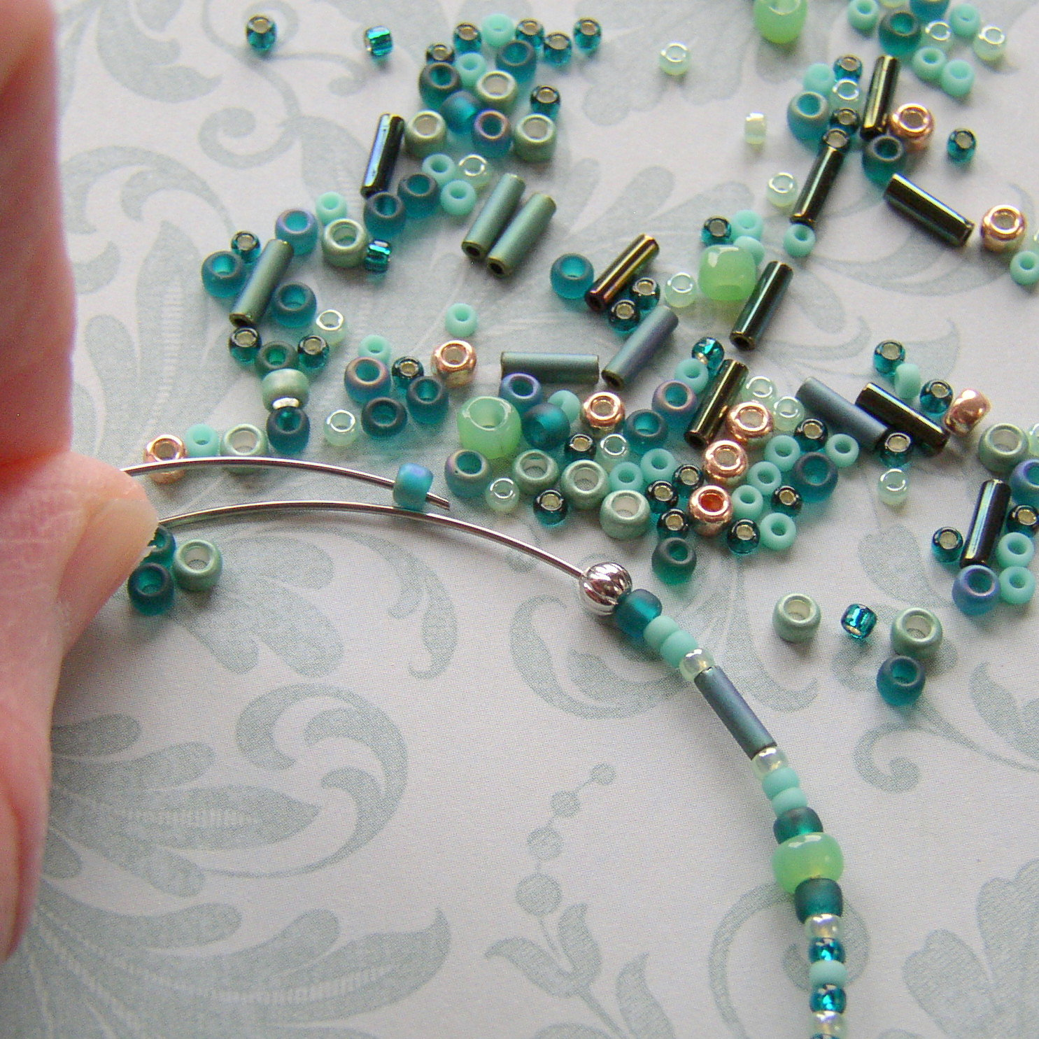 bead beginners beaded day with necklace ww wire for wrapping tutorial