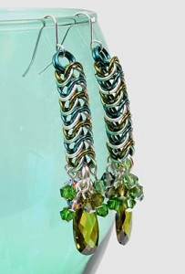Night in Emerald City earrings