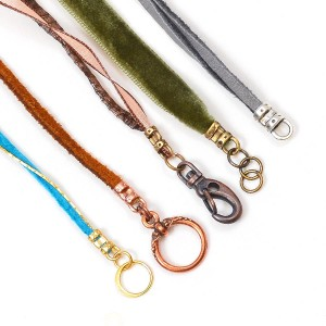 Crimp ends shown using a variety of cording and clasp options.