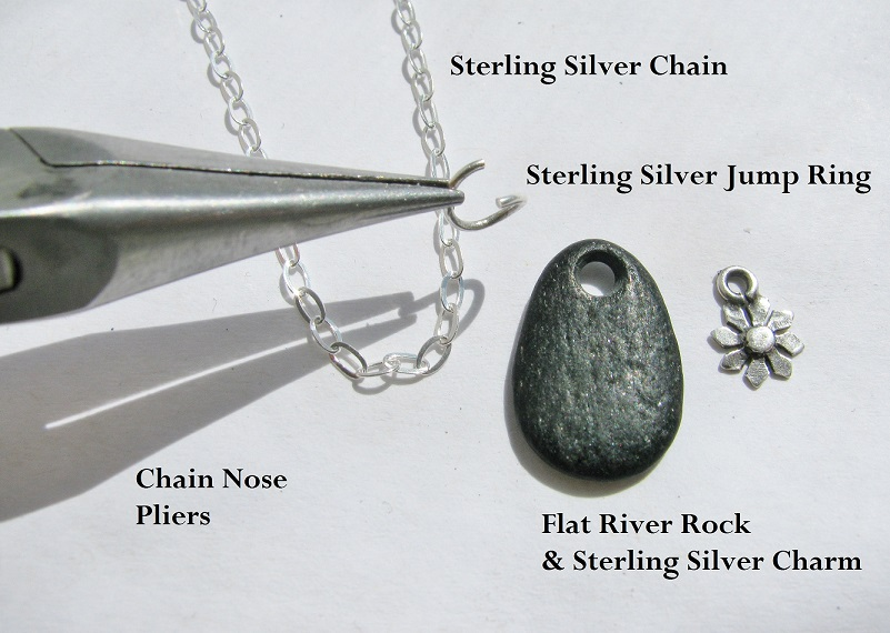 Make a simple dainty sterling silver necklace rings and things this project is so easy only one tool and a few components necessary mozeypictures Images