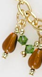 "12 Days of Christmas Bracelet Tutorial - Closeup of Pear ""Tree"""