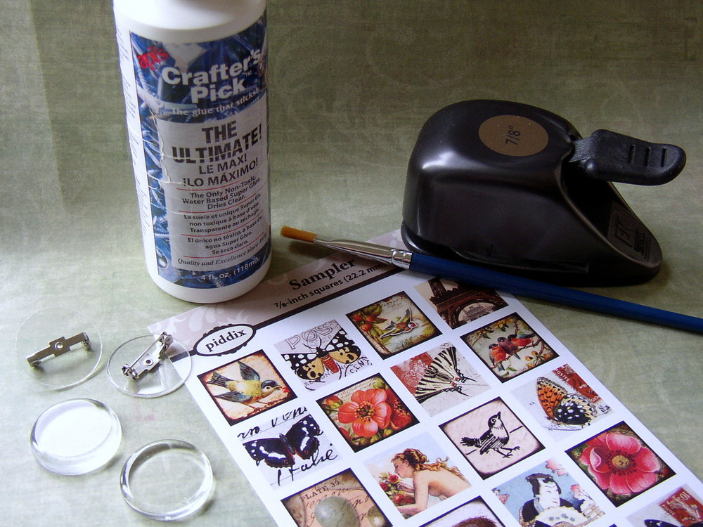 DIY image jewelry, supplies needed to make image jewelry.