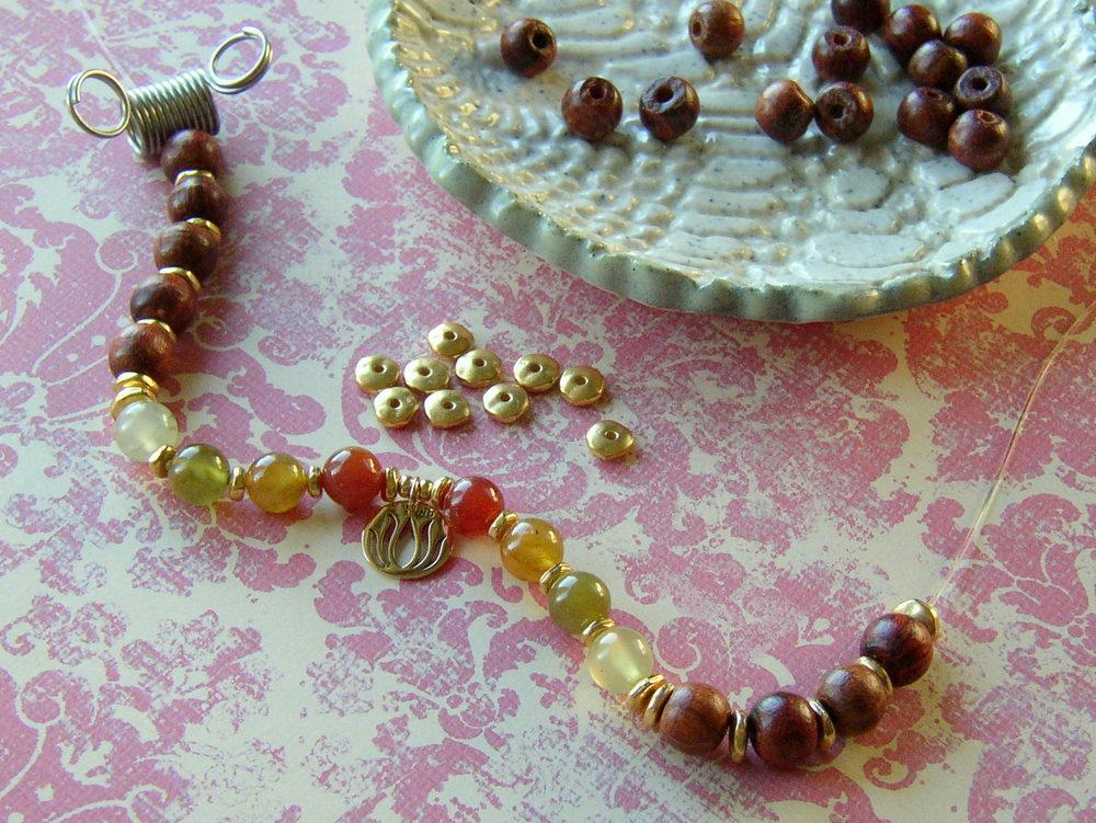Yoga Charm Bracelet Step 5