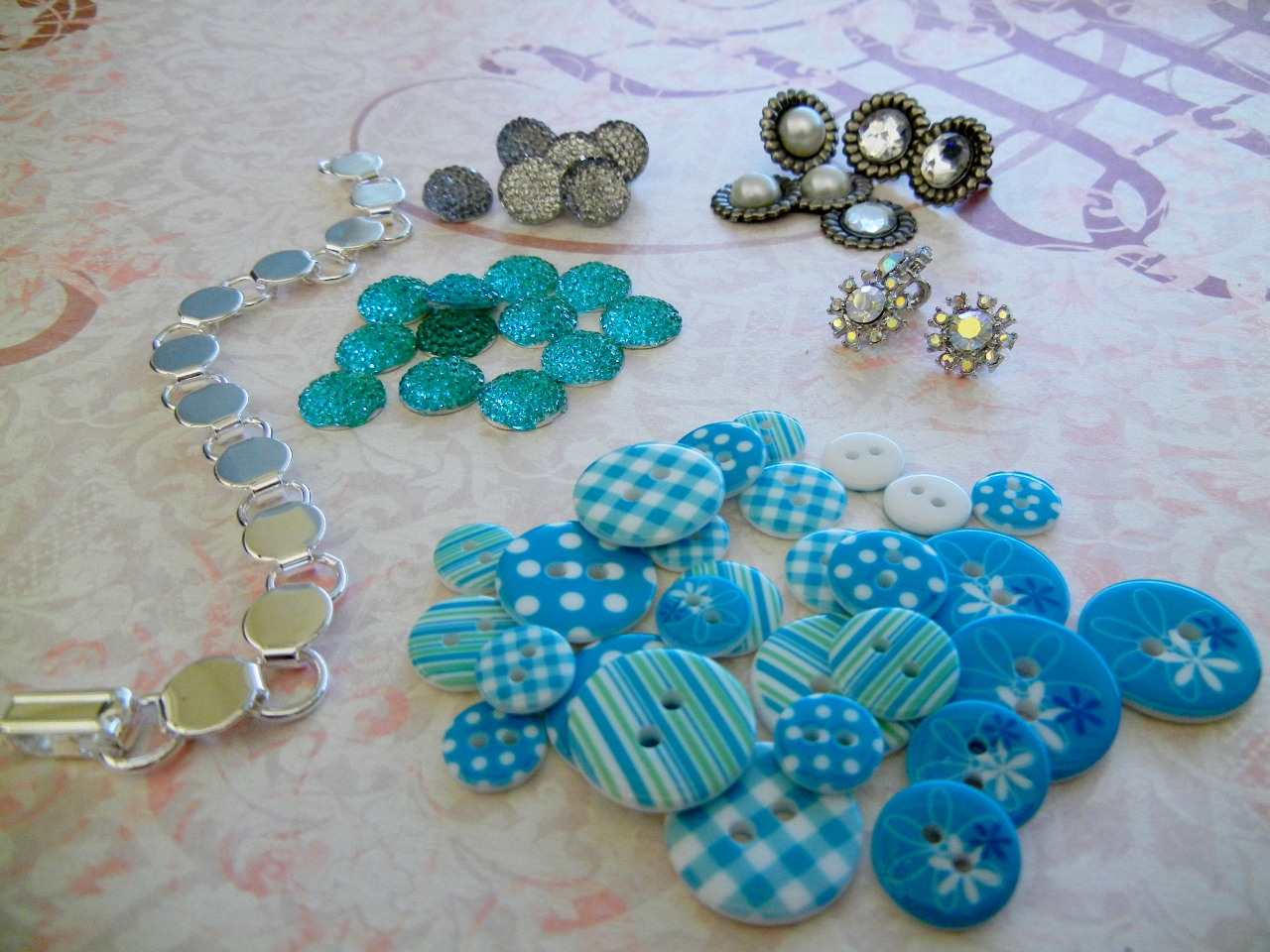 Do it yourself custom bracelets rings and things you can also sometimes find cool button like pieces in the scrapbooking section of craft stores solutioingenieria Images