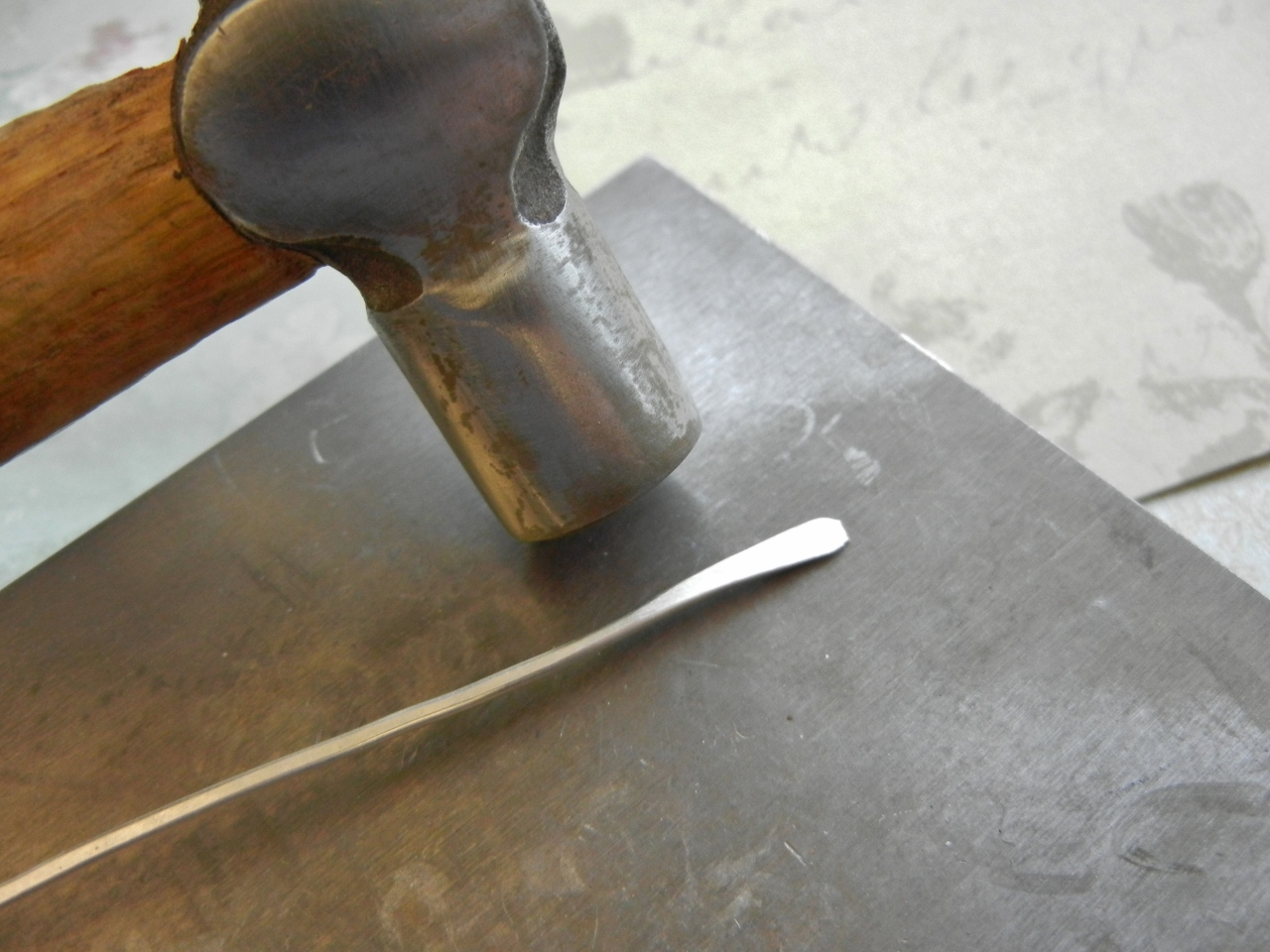... ring · remove the wire from the mandrel and hammer the wire flat with the flat side of ...