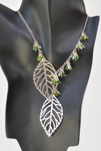 Foliage Lariat Chain Necklace