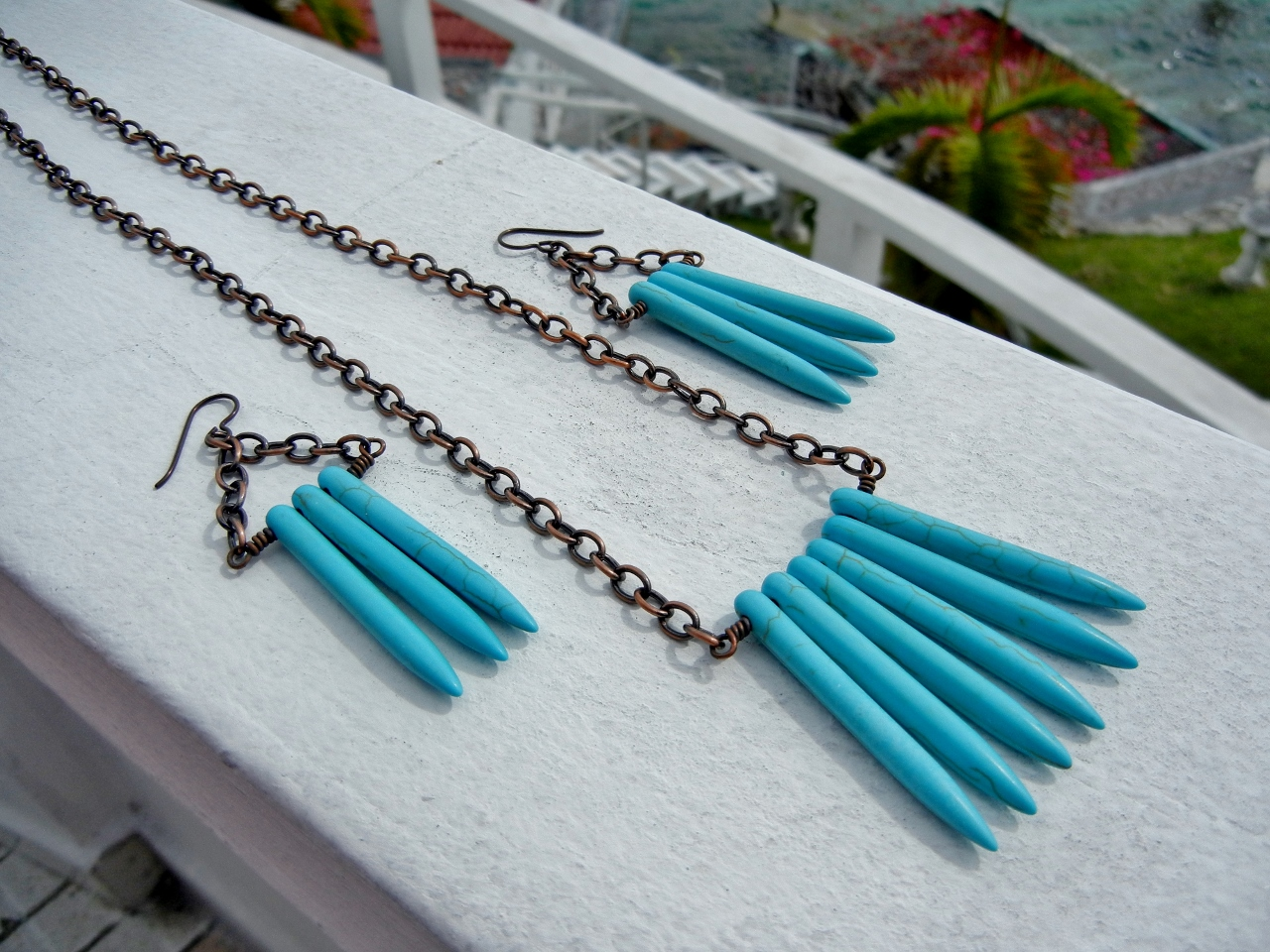 DIY: Funky Bohemian Turquoise Spike Jewelry Set – Rings and Things