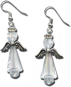 Artemis Crystal Angel Earrings