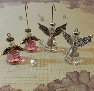 Angel Earrings in Progress