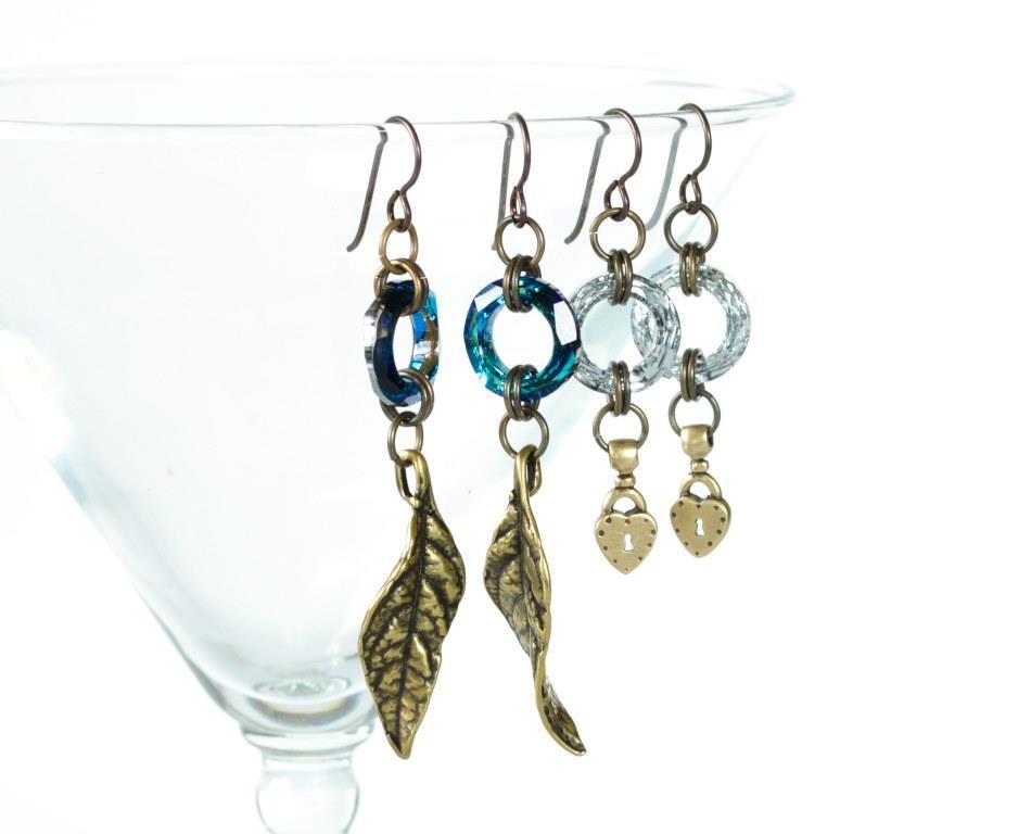 Niobium Earrings featuring Swarovski Crystal Cosmic Rings ...