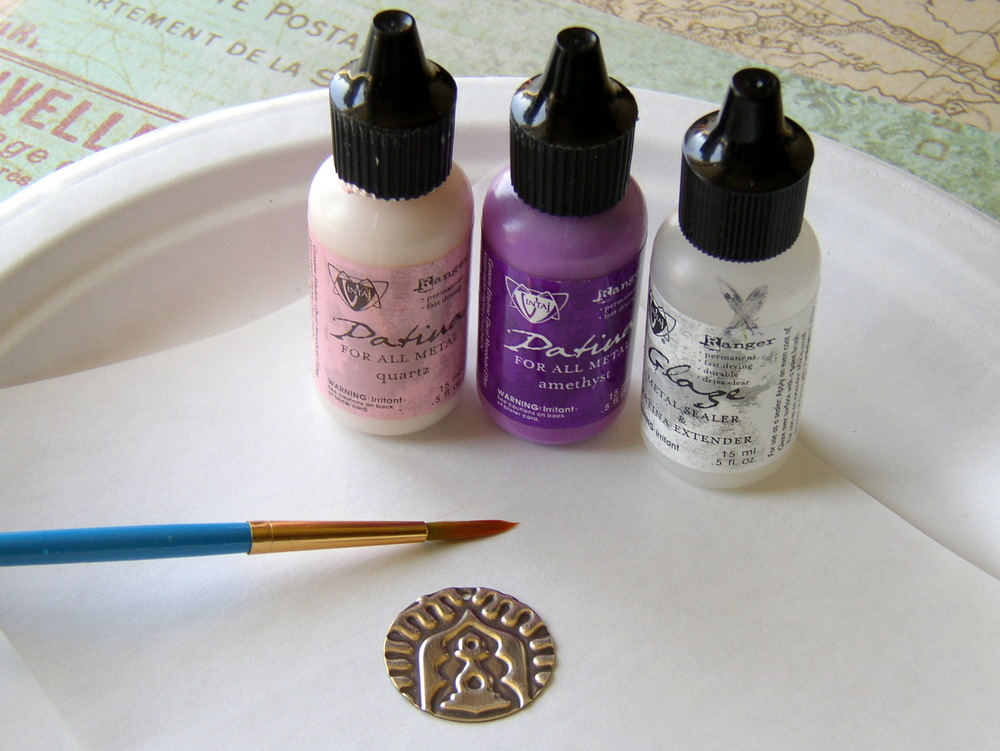 Use Vintaj glaze to seal the patina inks and make them even more durable.