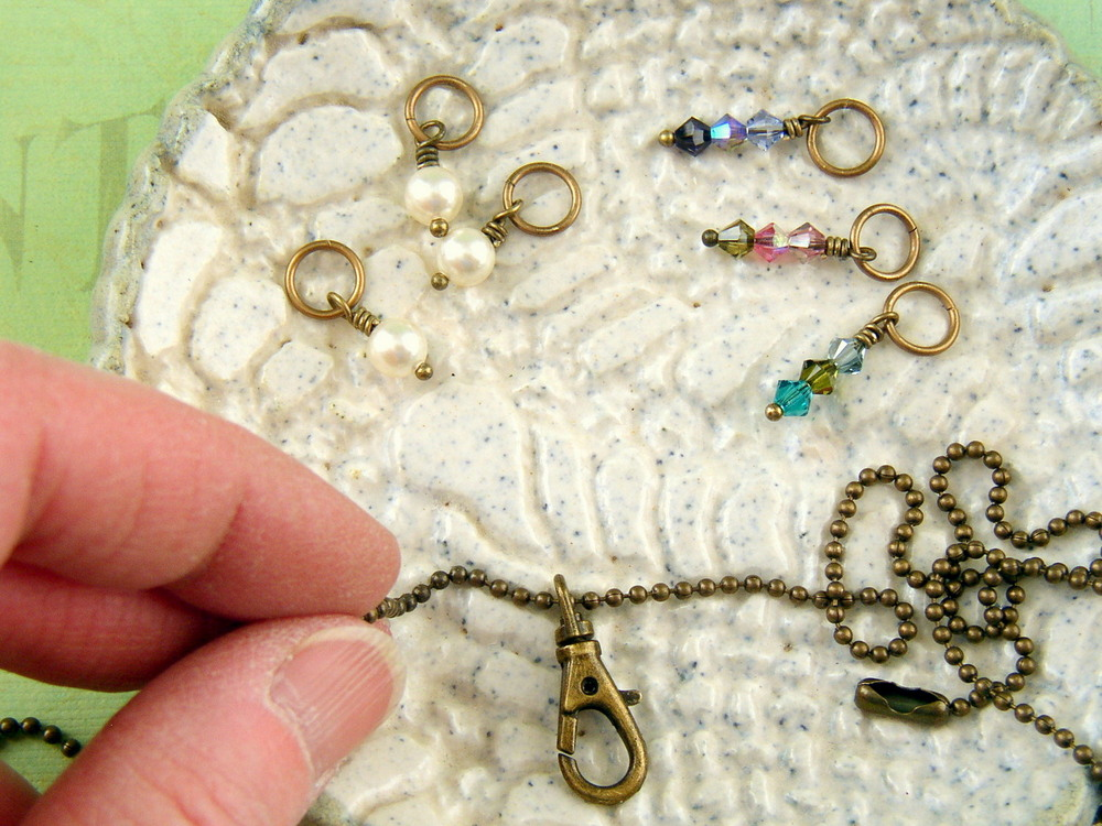 How to make an interchangeable charm necklace with a swivel hook.