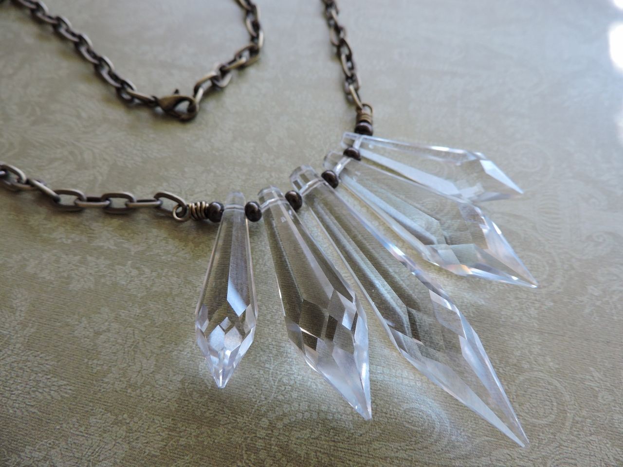 Swarovski Crystal Spear Graduated Necklace