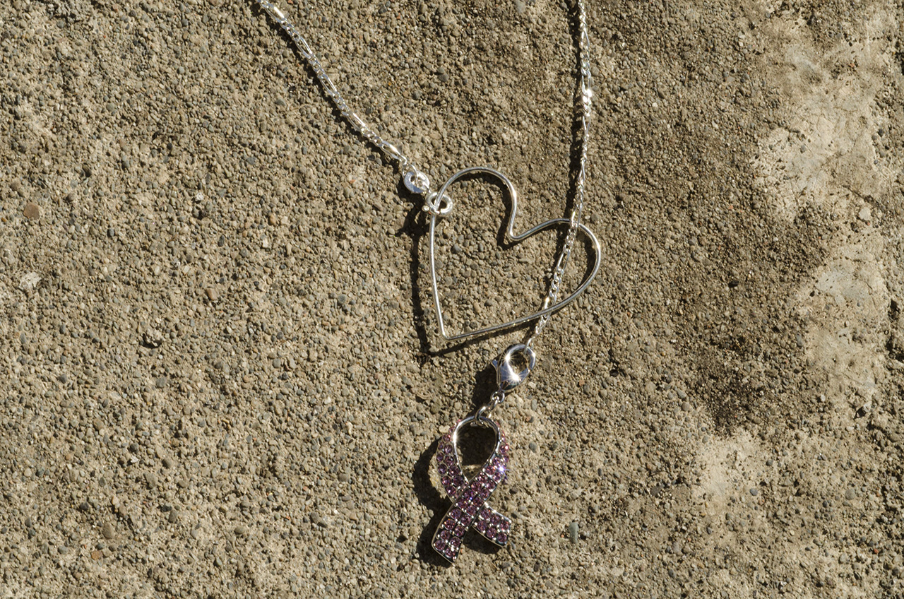 Slip your ribbon through your heart and your necklace is complete!