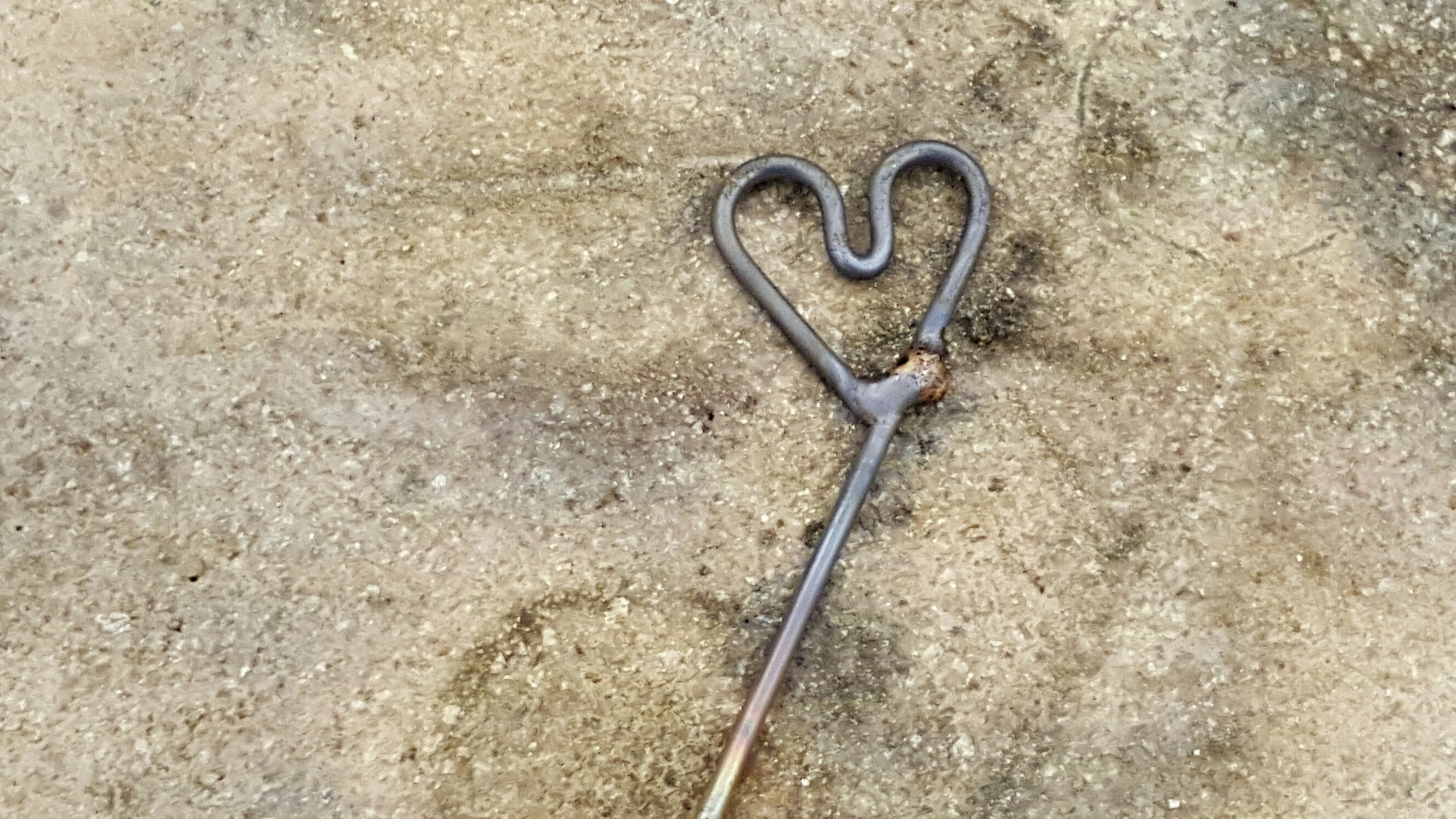 Soldered Heart for bracelet clasp