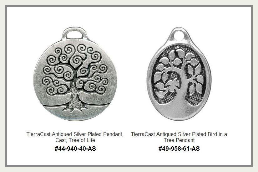 TierraCast Tree Pendants