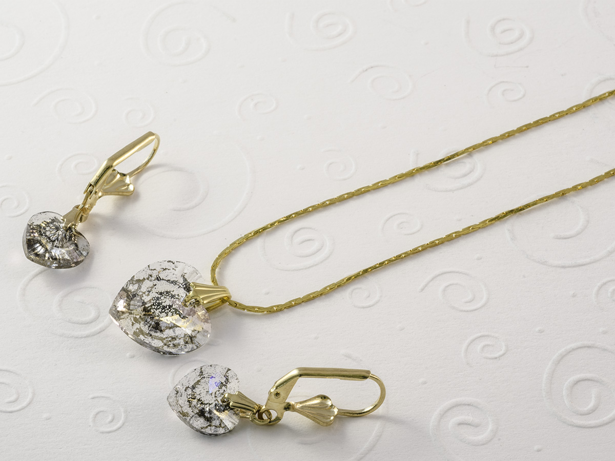 patina heart necklace earring set 1200x900