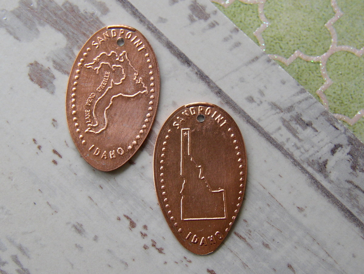 Souvenir Pressed Penny Earrings H