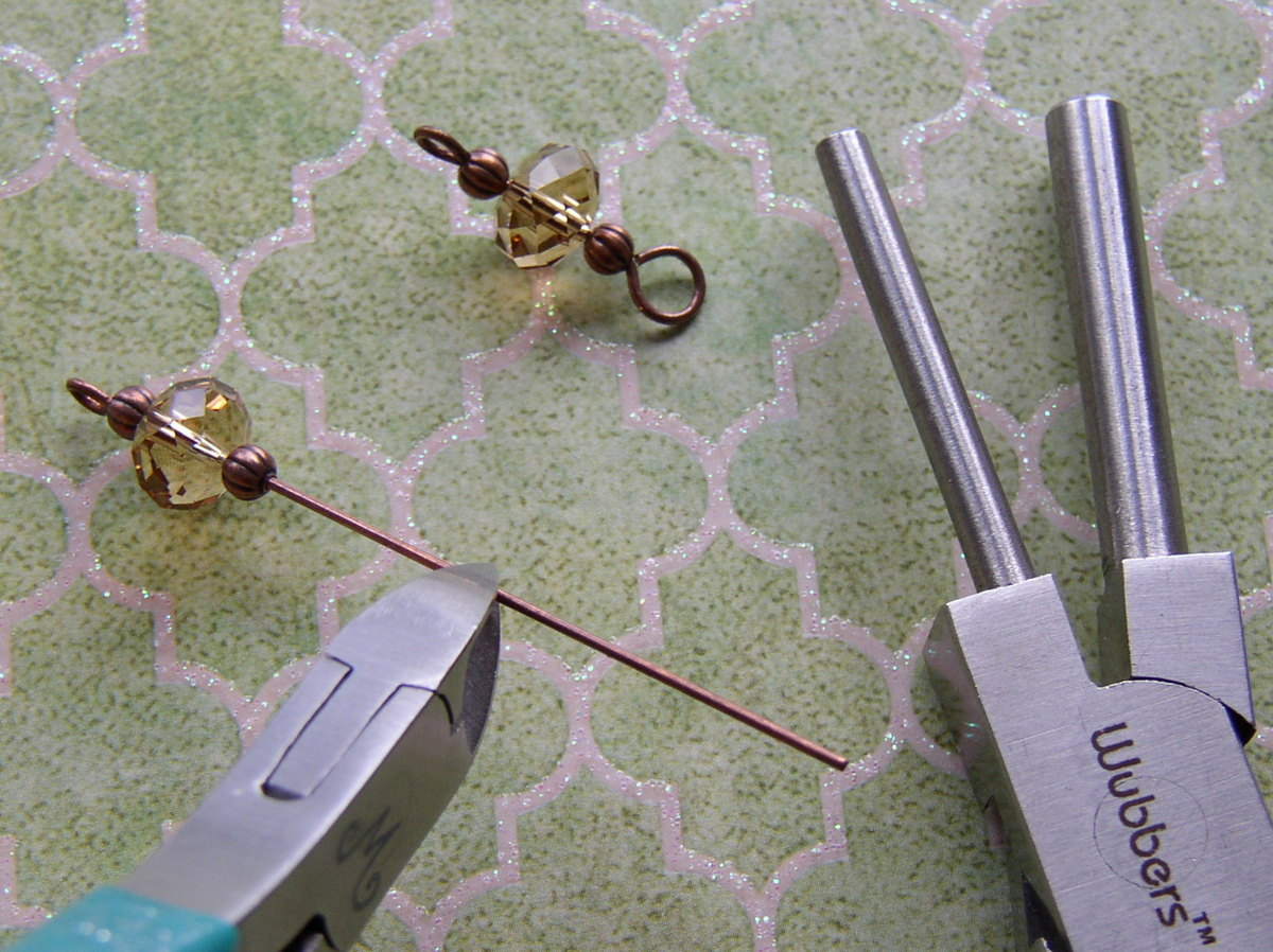 Make a bead link to add sparkle to your earrings.