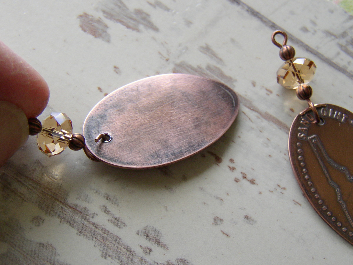 Add a bead link to your Souvenir Pressed Penny Earrings