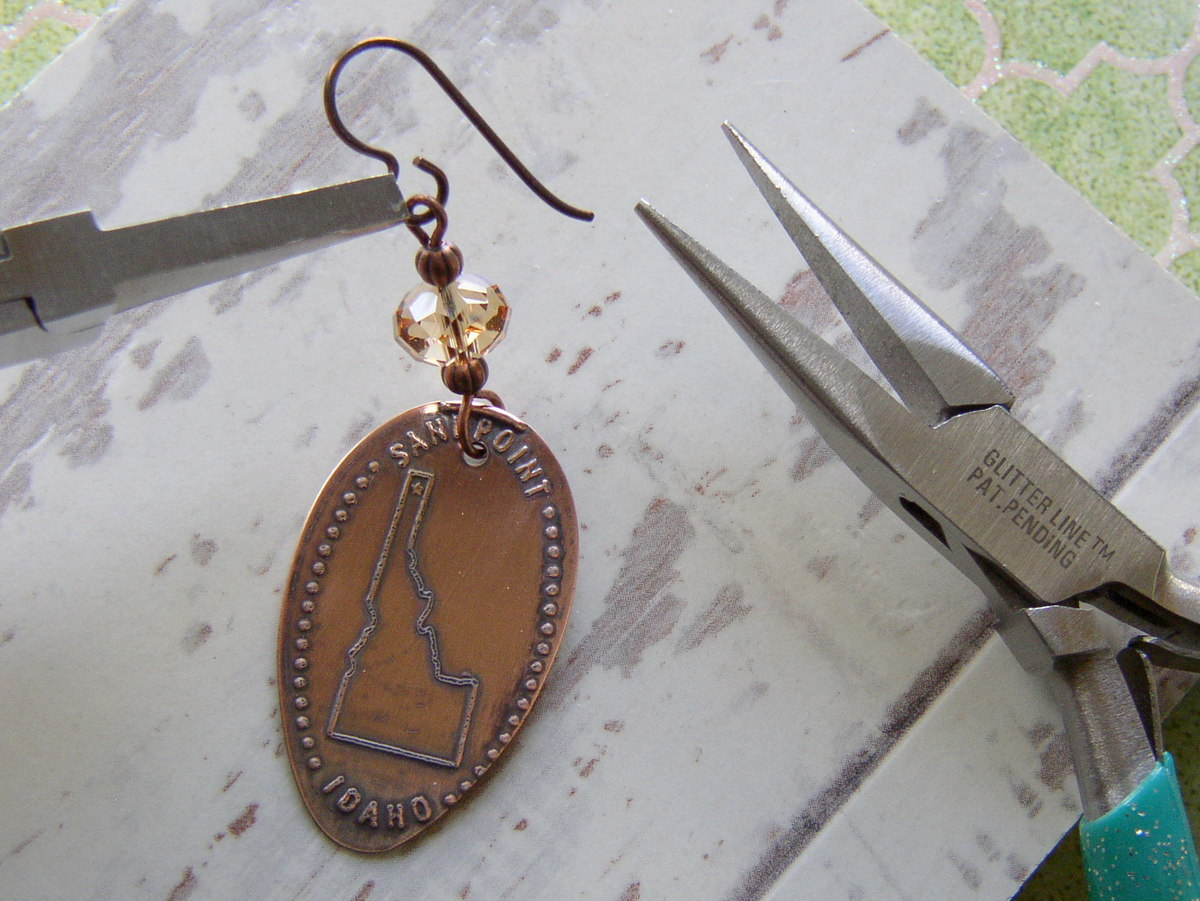 Souvenir Pressed Penny Earrings R