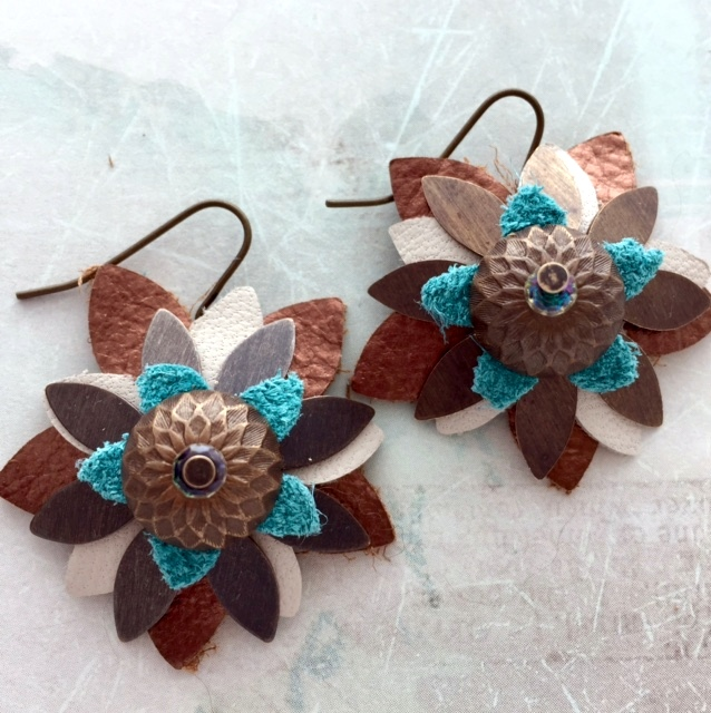 DIY leather jewelry using Sizzix Big Kick from rings-things.com