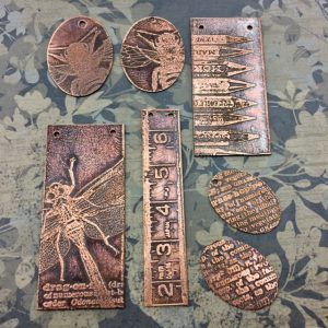 ferric chloride etching class taught by sondra barrington www.rings-things.com