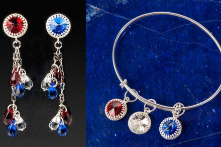 DIY 4th of July Earrings and Bracelet Set