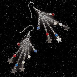 DIY Independence Day Fireworks Earrings