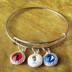 DIY red, white and blue sparklers bracelet