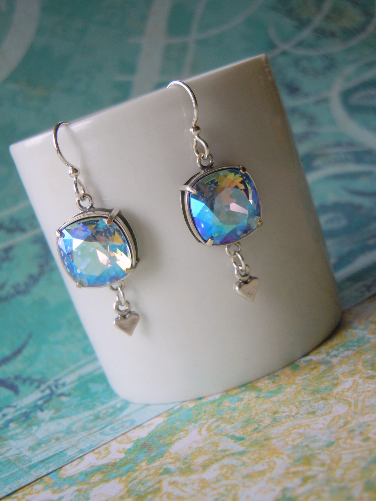 Blue Valentine Earrings by Rings & Things Designer Mollie Valente.