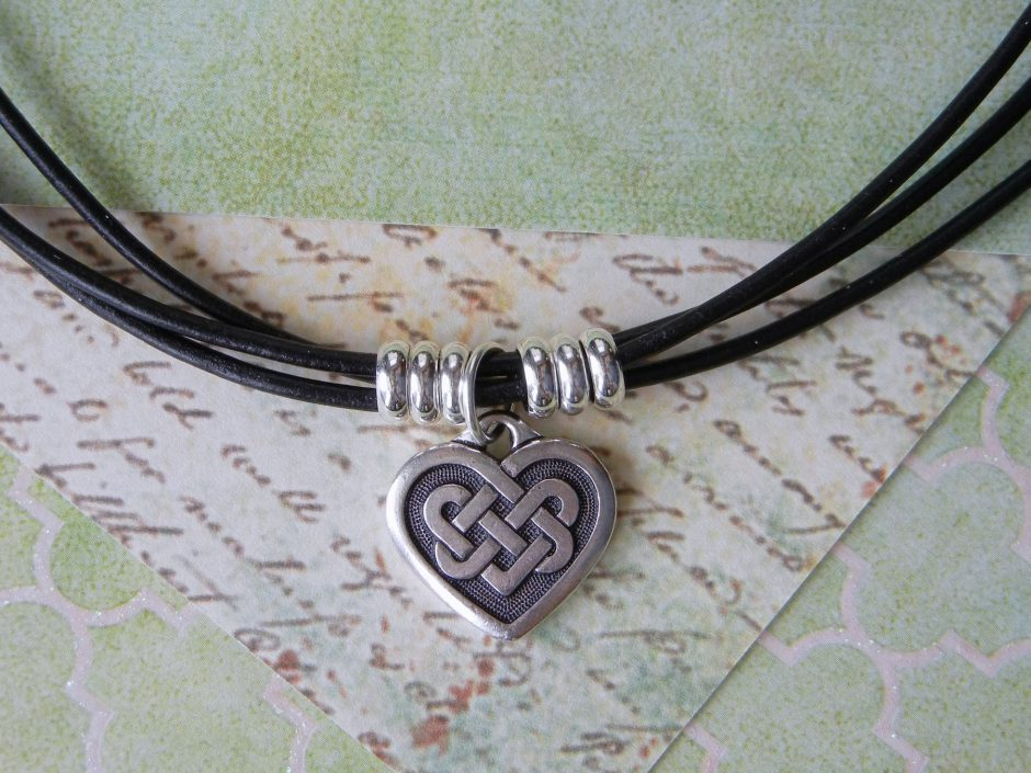 6e9448aef Celebrate St Patrick's Day or just your love of all things Irish with this  classic style choker necklace featuring a Celtic heart charm from  TierraCast's ...