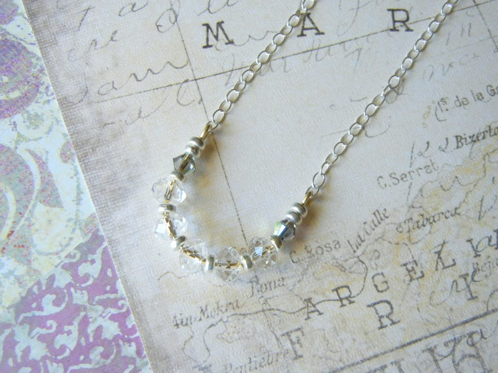 Curved Bead-Bar Necklace