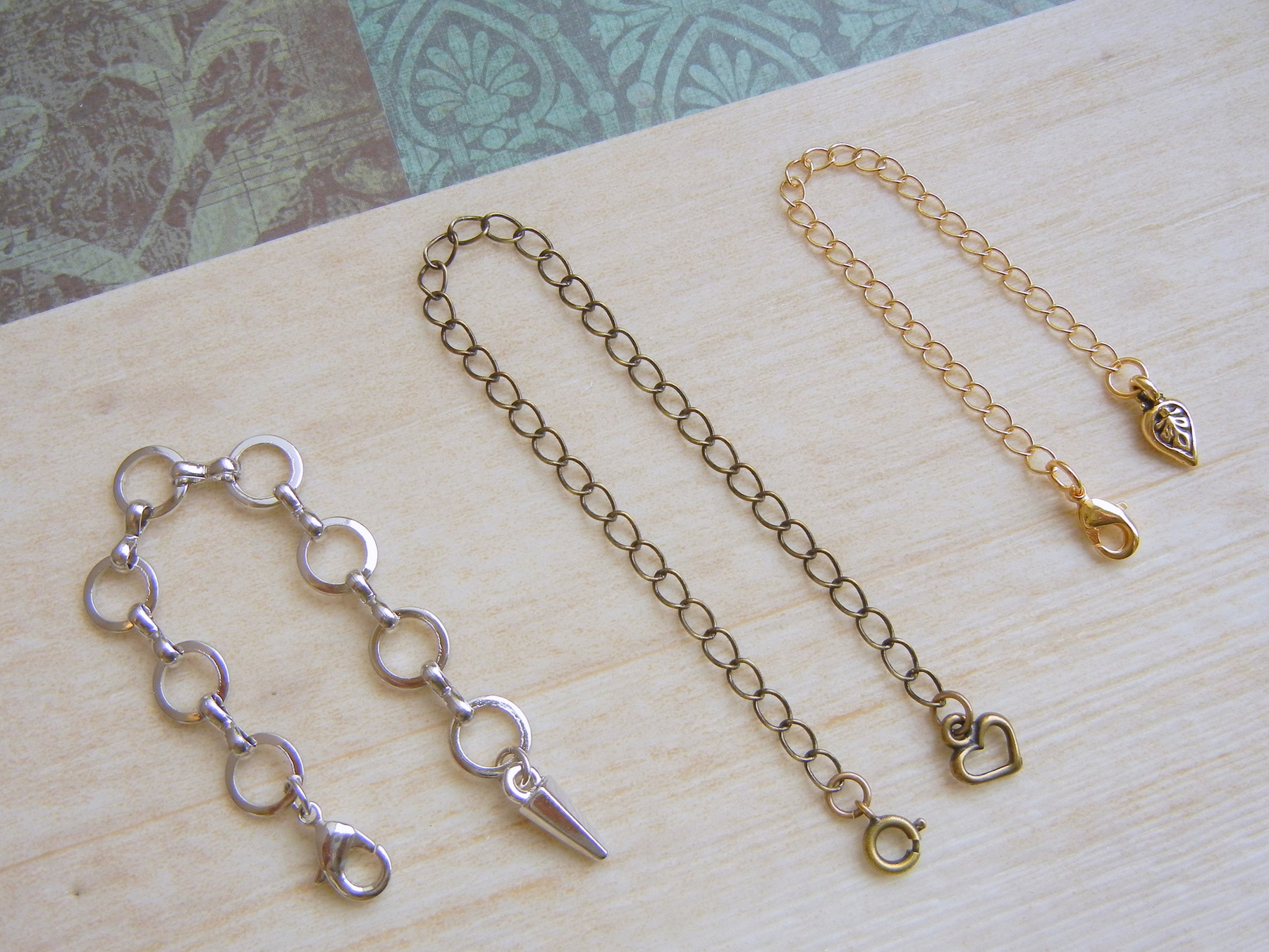 Extend Chain with Silver or Gold Necklace or Bracelet with Extend Chain Adjustable Chain Add-On Bracelet or Necklace Extend Chain