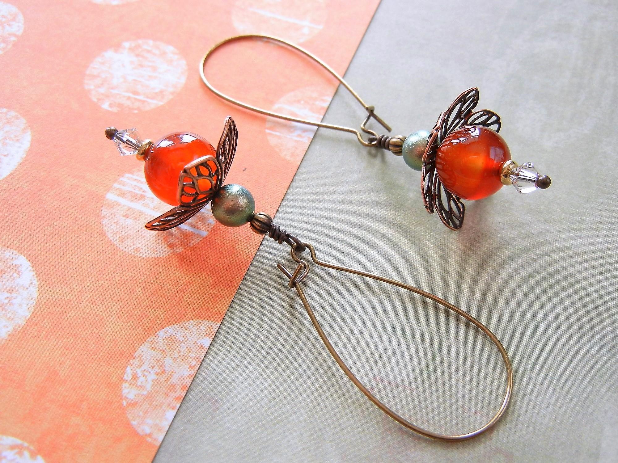 Bead Caps copper jewelry findings Copper Bead Caps copper jewelry components copper flower bead caps Flower shaped bead caps